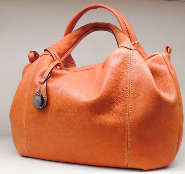 Calf Leather Handbag Street Style MF6