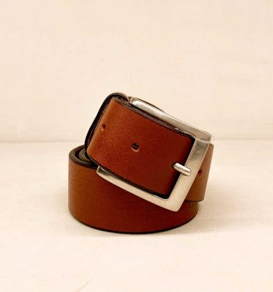Genuine Calf Leather Belt Color light brown