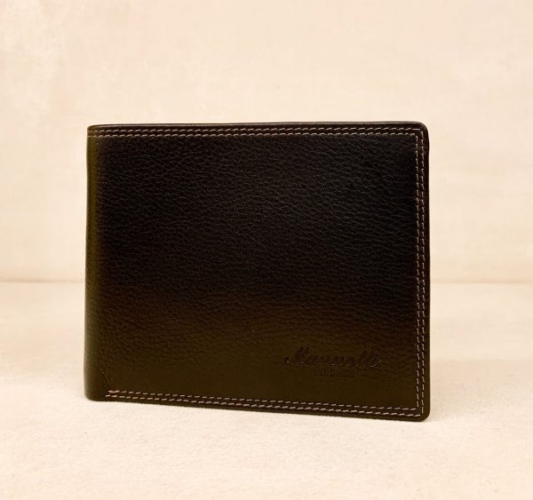 Calf Leather Wallet for Him MFW15 Black