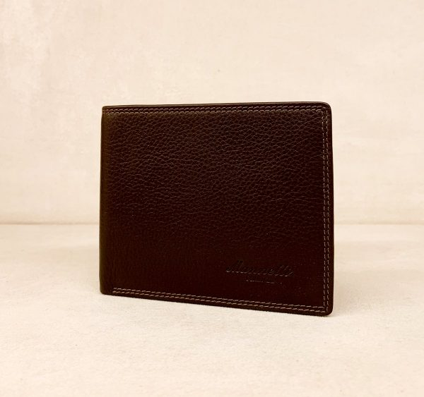 Calf Leather Wallet for Him MFW13 Brown